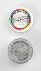 Rainbow Dust Sparkle Silver Hologram