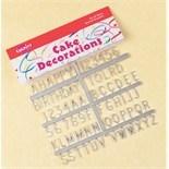 Silver Colour Plastic Letters & Numeralas