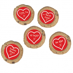 Valentine Greetings Sugar Plaque - 50mm