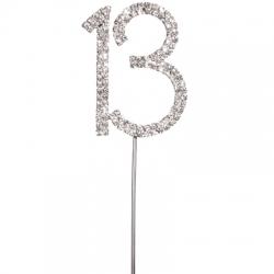 Diamante 13 On A Silver Stem