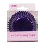 45 Foil Baking Cases - Purple
