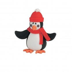 claydough Penguin with bobble hat - 70mm