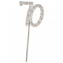 Diamante 70 On A Silver Stem