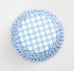 54 x Blue Gingham cases - 50mm