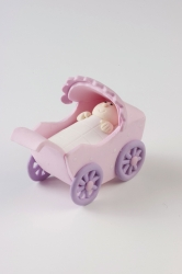 Claydough Pram - pink - 66mm x 40mm