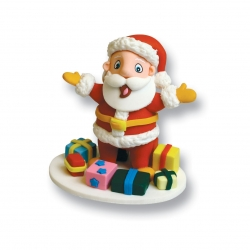 Claydough Santa with Parcles - 70mm