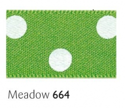 Medow 15mm polka dot ribbon - 20 meter reel