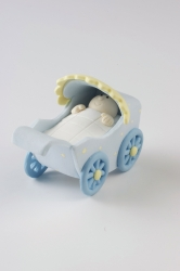 Claydough Baby Pram - Blue