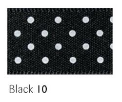 Black 15mm micro dot ribbon - 20 meter reel