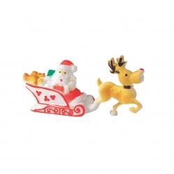 Santa in Sleigh with reindeer