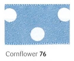 Confield 15mm polka dot ribbon - 20 meter reel