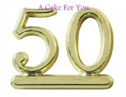 Plastic Gold Color 50 Number