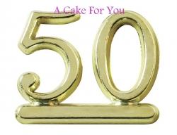 Plastic Gold Color 50 Number