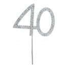 Diamante 40 On A Silver Stem