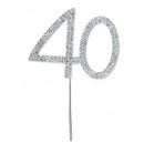 Diamante 40 On A Silver Stem
