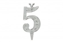 Silver Plastic candle holder - 5