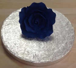 Navy Blue 7cm Rose