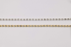 Diamonte trims on Silver or Gold