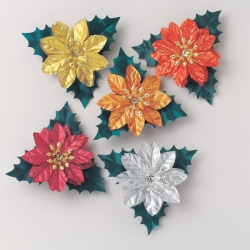 Assorted Poinsetta Sprays - 70mm