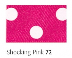 Shocking pink 25mm polka dot ribbon - 20 meter reel