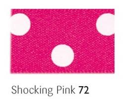 Shocking pink 25mm polka dot ribbon - 20 meter reel