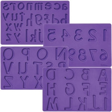 Fondant and Gum paste moulds - Alphabet and numbers