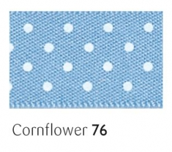 Cornflower 25mm micro dot ribbon - 20 meter reel