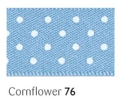 Cornflower 25mm micro dot ribbon - 20 meter reel