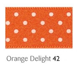 Orange delight 15mm micro dot ribbon - 20 meter reel