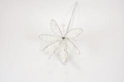 White pearl & Iridescent Flower - 90mm