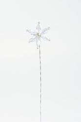 6 x iridescent gem flower - 25mm
