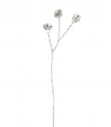 6 x Diamonte branches - Silver wire