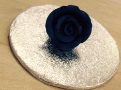 Navy Blue 4cm Rosebud