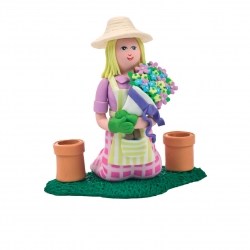 Claydough lady Gardener 90mm x 90mm