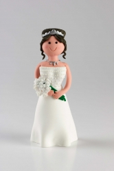 Claydough Bride with brown hair - Standing - 120mm