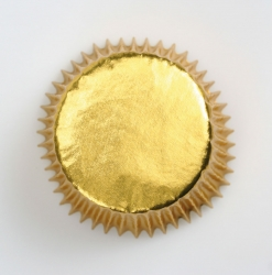 45 x Gold foil cupcake cases - 50mm
