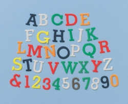 Alphabet & Number set - Upper Case Tappit Set