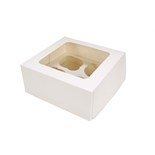 White 4 Hold Cupcake Box