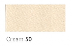 Cream ribbon 25mm - 20 meter reel