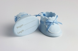 Claydough Blue baby Booties - 62mm