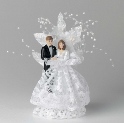 ornament with bride and groom - 203mm