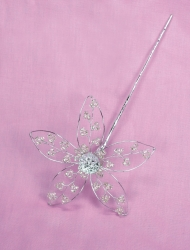 lace bead Flower - Silver