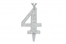 Silver Plastic candle holder - 4