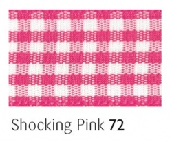 Shocking Pink gingham 25mm ribbon - 20 meter reel