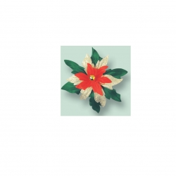 Poinsetta Spray - 76mm