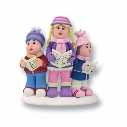 Claydough carol singers - 70mm