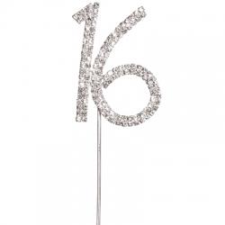 Diamante 16 On a silver stem