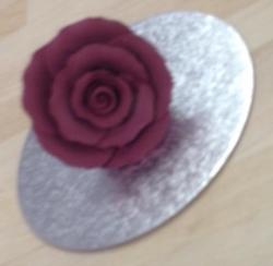 Burgundy 5cm Rosebud