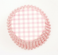 54 x Pink Gingham cases - 50mm
