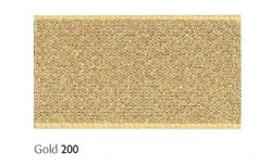 Gold 7mm Lame sparkle ribbon - 20 meter reel